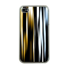 Digitally Created Striped Abstract Background Texture Apple iPhone 4 Case (Clear)