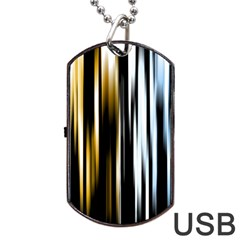 Digitally Created Striped Abstract Background Texture Dog Tag USB Flash (One Side)
