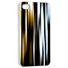 Digitally Created Striped Abstract Background Texture Apple iPhone 4/4s Seamless Case (White)
