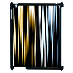 Digitally Created Striped Abstract Background Texture Apple iPad 2 Case (Black)