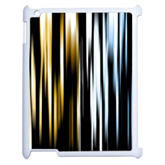 Digitally Created Striped Abstract Background Texture Apple iPad 2 Case (White)
