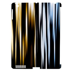 Digitally Created Striped Abstract Background Texture Apple iPad 3/4 Hardshell Case (Compatible with Smart Cover)