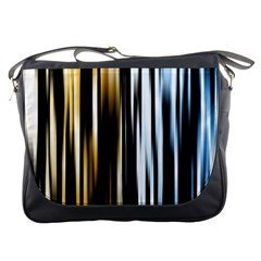 Digitally Created Striped Abstract Background Texture Messenger Bags