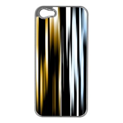 Digitally Created Striped Abstract Background Texture Apple iPhone 5 Case (Silver)