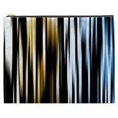 Digitally Created Striped Abstract Background Texture Cosmetic Bag (XXXL)