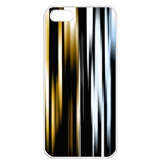 Digitally Created Striped Abstract Background Texture Apple iPhone 5 Seamless Case (White)