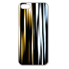Digitally Created Striped Abstract Background Texture Apple Seamless Iphone 5 Case (clear) by Simbadda
