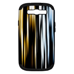 Digitally Created Striped Abstract Background Texture Samsung Galaxy S III Hardshell Case (PC+Silicone)