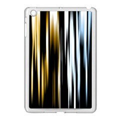 Digitally Created Striped Abstract Background Texture Apple iPad Mini Case (White)