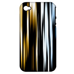 Digitally Created Striped Abstract Background Texture Apple iPhone 4/4S Hardshell Case (PC+Silicone)