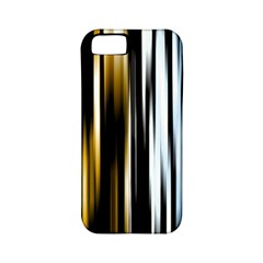 Digitally Created Striped Abstract Background Texture Apple iPhone 5 Classic Hardshell Case (PC+Silicone)