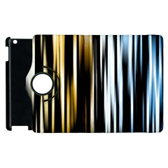 Digitally Created Striped Abstract Background Texture Apple iPad 3/4 Flip 360 Case
