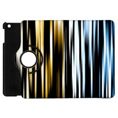 Digitally Created Striped Abstract Background Texture Apple iPad Mini Flip 360 Case