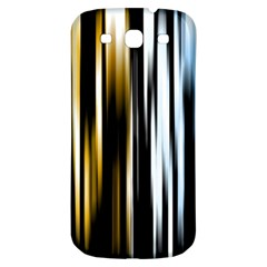 Digitally Created Striped Abstract Background Texture Samsung Galaxy S3 S III Classic Hardshell Back Case