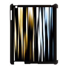 Digitally Created Striped Abstract Background Texture Apple iPad 3/4 Case (Black)