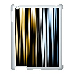 Digitally Created Striped Abstract Background Texture Apple iPad 3/4 Case (White)
