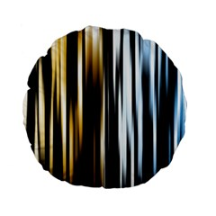 Digitally Created Striped Abstract Background Texture Standard 15  Premium Round Cushions