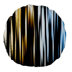 Digitally Created Striped Abstract Background Texture Large 18  Premium Round Cushions