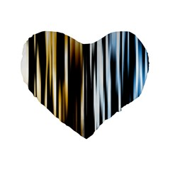 Digitally Created Striped Abstract Background Texture Standard 16  Premium Heart Shape Cushions