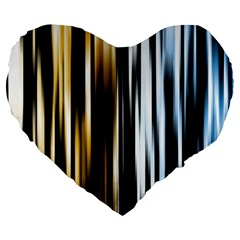 Digitally Created Striped Abstract Background Texture Large 19  Premium Heart Shape Cushions