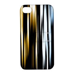 Digitally Created Striped Abstract Background Texture Apple iPhone 4/4S Hardshell Case with Stand