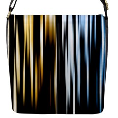 Digitally Created Striped Abstract Background Texture Flap Messenger Bag (S)