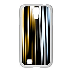 Digitally Created Striped Abstract Background Texture Samsung GALAXY S4 I9500/ I9505 Case (White)