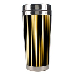 Digitally Created Striped Abstract Background Texture Stainless Steel Travel Tumblers