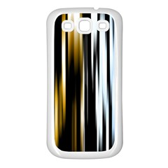 Digitally Created Striped Abstract Background Texture Samsung Galaxy S3 Back Case (White)