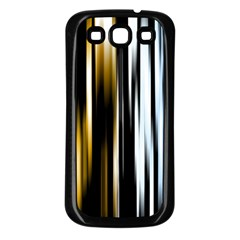 Digitally Created Striped Abstract Background Texture Samsung Galaxy S3 Back Case (Black)