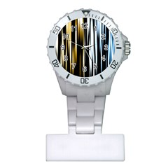 Digitally Created Striped Abstract Background Texture Plastic Nurses Watch