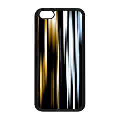 Digitally Created Striped Abstract Background Texture Apple iPhone 5C Seamless Case (Black)