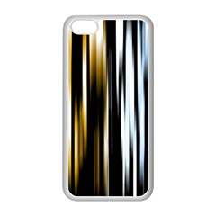 Digitally Created Striped Abstract Background Texture Apple iPhone 5C Seamless Case (White)