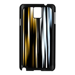 Digitally Created Striped Abstract Background Texture Samsung Galaxy Note 3 N9005 Case (Black)