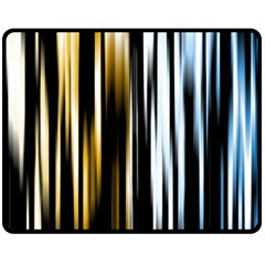 Digitally Created Striped Abstract Background Texture Double Sided Fleece Blanket (Medium)