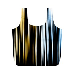 Digitally Created Striped Abstract Background Texture Full Print Recycle Bags (M)