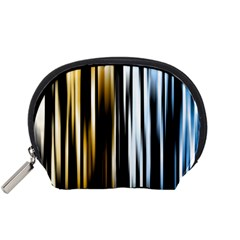 Digitally Created Striped Abstract Background Texture Accessory Pouches (Small)