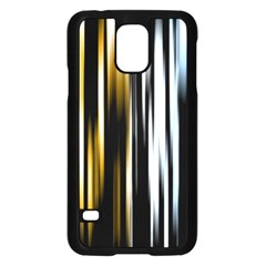Digitally Created Striped Abstract Background Texture Samsung Galaxy S5 Case (Black)