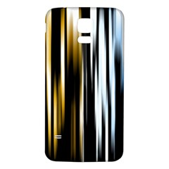 Digitally Created Striped Abstract Background Texture Samsung Galaxy S5 Back Case (White)