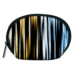 Digitally Created Striped Abstract Background Texture Accessory Pouches (Medium)