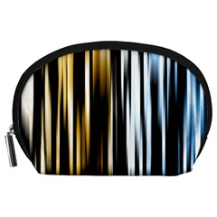 Digitally Created Striped Abstract Background Texture Accessory Pouches (Large)