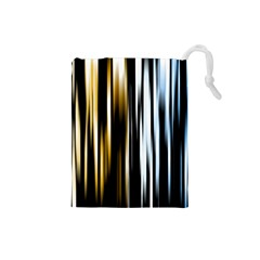 Digitally Created Striped Abstract Background Texture Drawstring Pouches (Small)