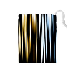 Digitally Created Striped Abstract Background Texture Drawstring Pouches (Medium)