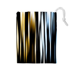 Digitally Created Striped Abstract Background Texture Drawstring Pouches (Large)