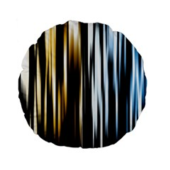 Digitally Created Striped Abstract Background Texture Standard 15  Premium Flano Round Cushions