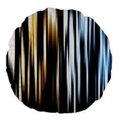 Digitally Created Striped Abstract Background Texture Large 18  Premium Flano Round Cushions