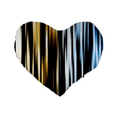 Digitally Created Striped Abstract Background Texture Standard 16  Premium Flano Heart Shape Cushions