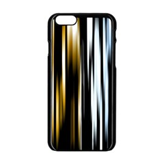 Digitally Created Striped Abstract Background Texture Apple iPhone 6/6S Black Enamel Case