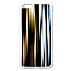 Digitally Created Striped Abstract Background Texture Apple iPhone 6 Plus/6S Plus Enamel White Case
