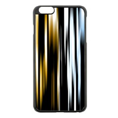 Digitally Created Striped Abstract Background Texture Apple iPhone 6 Plus/6S Plus Black Enamel Case